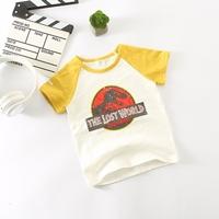 เสื้อยืดเด็ก-The-Lost-World-Jurassic-Park-สีเหลือง