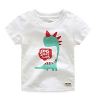 เสื้อยืดเด็กหนูน้อยไดโนเสาร์-CDG-SHIRT-BOY-สีขาว