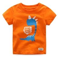 เสื้อยืดเด็กหนูน้อยไดโนเสาร์-CDG-SHIRT-BOY-สีส้ม
