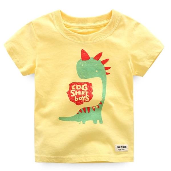 เสื้อยืดเด็กหนูน้อยไดโนเสาร์-CDG-SHIRT-BOY-เหลือง