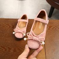 รองเท้า-ติดโบว์-สีชมพู