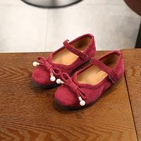 รองเท้า-ติดโบว์-สีแดง