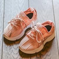 รองเท้าผ้าใบแฟชั่นหนูน้อยจีฮุน-PADAUK-สีชมพู