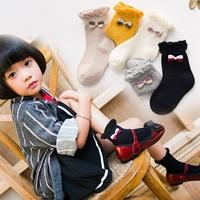 ถุงเท้าแฟชั่น-แต่งโบว์(แพค-5-คู่)