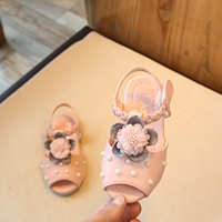 รองเท้าเจ้าหญิง-Korean-Flower-สีชมพู