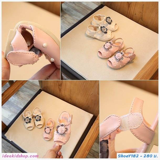 รองเท้าเจ้าหญิง Korean Flower สีขาว