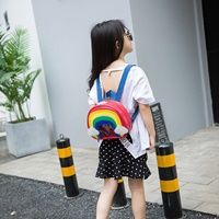 กระเป๋าสะพายหลังแฟชั่น-สายรุ้ง-สีชมพู