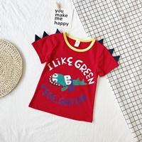 เสื้อยืดเด็กจระเข้-I-LIKE-GREEN-VEGE.GATOR-สีแดง