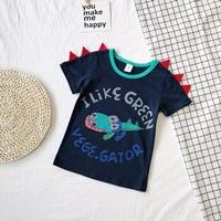 เสื้อยืดเด็กจระเข้-I-LIKE-GREEN-VEGE.GATOR-สีกรม