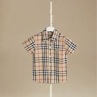 เสื้อเชิ้ตคอปก-Burberry-สีน้ำตาล-ลายเล็ก