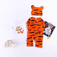 บอดี้สูทแขนยาวพร้อมหมวก-Baby-Tigger-สีส้ม-(3ชิ้น)