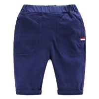 กางเกงเอวยางยืดขาสามส่วน-แฟชั่น-สีกรม