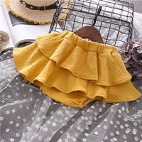 กระโปรงกางเกงขาสั้น-คุณหนูแมรี่-สีเหลือง