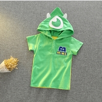 เสื้อยืด-มีฮูด-Monster-สีเขียว