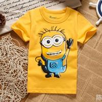 เสื้อยืดแฟชั่นหนูน้อย-Minion-สีเหลือง
