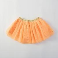กระโปรงเด็ก-Tutu-สไตล์วินเทจ-แต่งลายดาว-สีส้ม