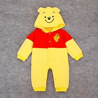 บอดี้สูทแขนยาว-มีฮู้ด-Baby-Pooh-สีเหลือง