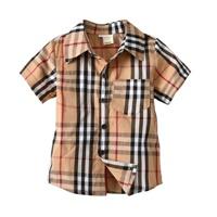 เสื้อเชิ๊ตเด็กแขนสั้น-Burberry