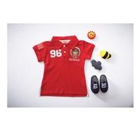 เสื้อโปโล-คอปกแขนสั้น-Sports-No-96-สีแดง