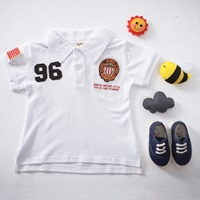 เสื้อโปโล-คอปกแขนสั้น-Sports-No-96-สีขาว