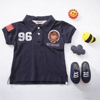 เสื้อโปโล-คอปกแขนสั้น-Sports-No-96-สีกรมดำ