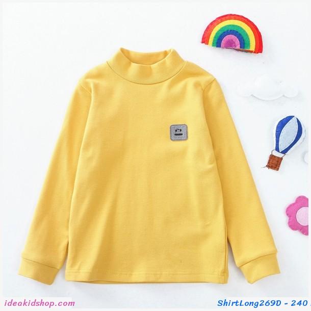 เสื้อแขนยาวคอเต่า สีเหลือง