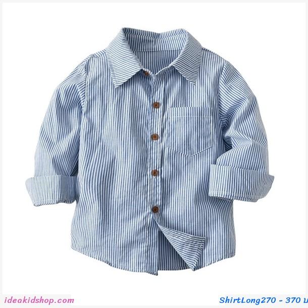 เสื้อเชิ้ตแขนยาว Blue Stripe