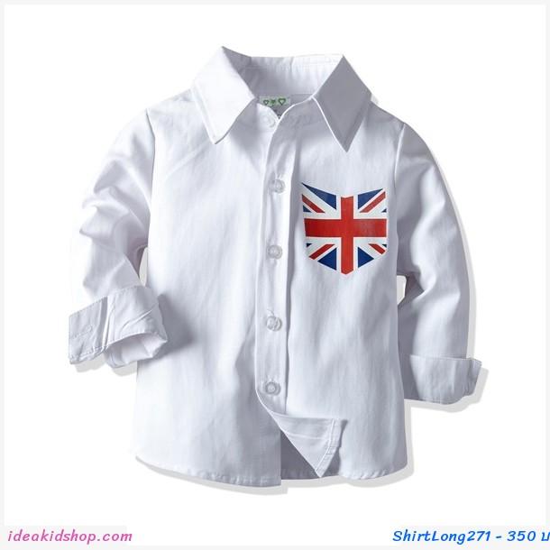 เสื้อเชิ้ตแขนยาว ธงชาติอังกฤษ