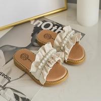 รองเท้าแตะมุกสาวแฟชั่น-สีขาว