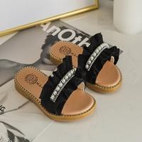 รองเท้าแตะมุกสาวแฟชั่น-สีดำ