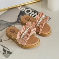 รองเท้าแตะมุกสาวแฟชั่น-สีชมพู