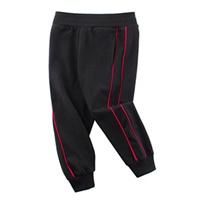 กางเกงวอร์มขาจั๊ม-แถบแดง-สีดำ