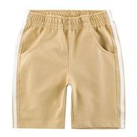 กางเกงขาสั้น-แต่งแถบขาว-สีน้ำตาลอ่อน