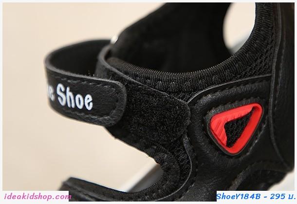 รองเท้ารัดส้น สามเหลี่ยมแดง สีชมพู