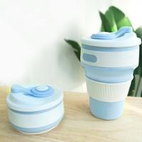 แก้วน้ำพับได้พกพา-Hand-Cup-Outdoor-สีฟ้า
