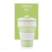 แก้วน้ำพับได้พกพา-Hand-Cup-Outdoor-สีเขียว