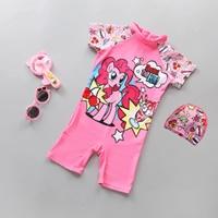 ชุดว่ายน้ำ_หมวก-ลาย-Pony-สีชมพู