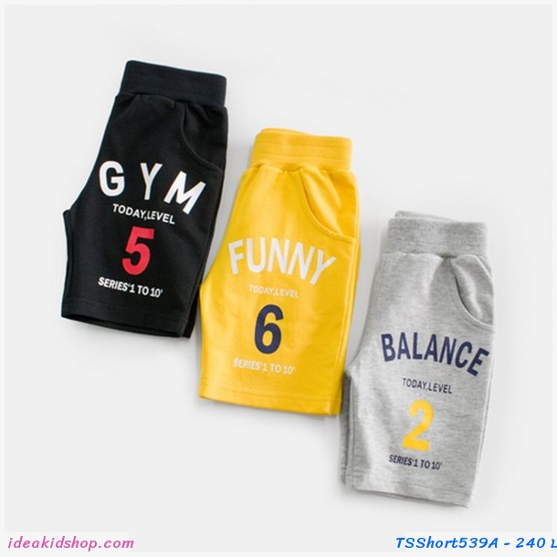 กางเกงขาสั้น FUNNY 6 สีเหลือง