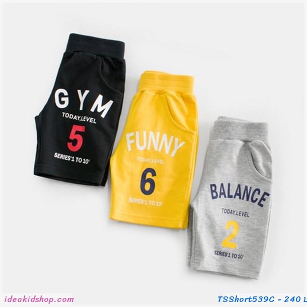 กางเกงขาสั้น GYM 5 สีดำ
