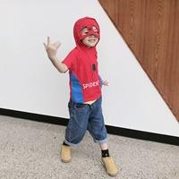 เสื้อยืดมีฮู้ด-ลาย-Spiderman