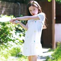 เดรสคอปก-Sport-Girl-ปักลายนางฟ้า-สีขาว