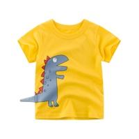 เสื้อยืดแฟชั่น-ลายไดโนเสาร์-สีเหลือง