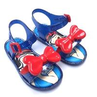 รองเท้ารัดส้นแบบสวม-Snow-White-โบว์สีแดง
