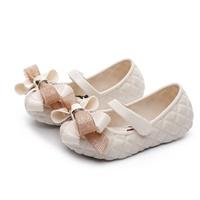 รองเท้าติดโบว์-Minnie-Mickey-สีขาวครีม