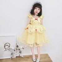 ชุดเดรสเจ้าหญิง-Belle-สีเหลือง