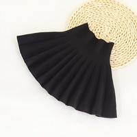 กระโปรงเอวสูง-pleated-skirt-สีดำ