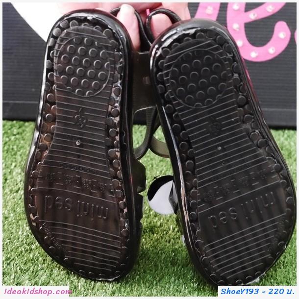 รองเท้ายางรัดส้น Micky สไตล์ Mini Sed สีดำ