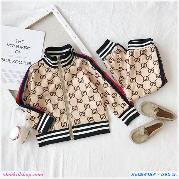 ชุดเสื้อกางเกง Gucci สีครีม