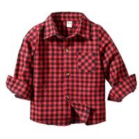 เสื้อเชิ้ตแขนยาว-ลายสก็อต-สีแดง