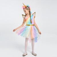 เดรสแฟนซี-unicorn-สีรุ้งพาสเทล